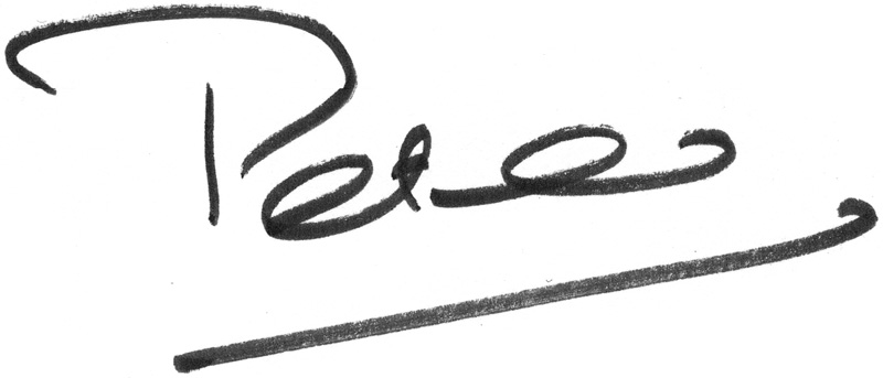 Peter Mayle Signature